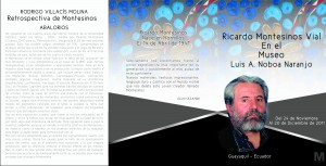 Invitation to Ricardo Montesinos Exhibition at Luis Noboa Naranjo Museum