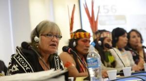 Margoth Escobar (far left), human rights activist.