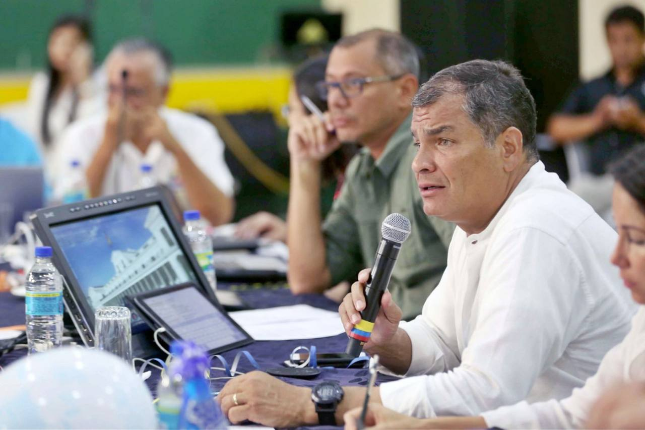 What is the bribery offense of which former President Rafael Correa is accused?
