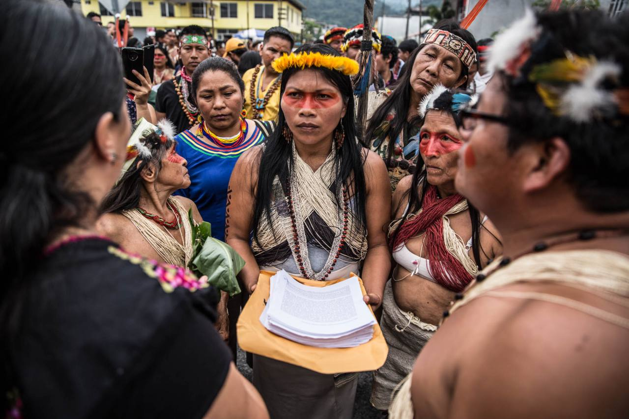Enough lighting fires in the Amazon rainforest, says Waorani leader Nemonte Nenquimo