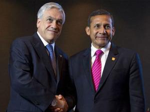 Sebastian Pinera and Ollanta Humala