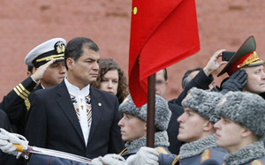 Rafael Correa en Rusia