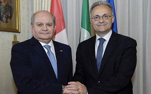 Mario Mauro and Pedro Cateriano