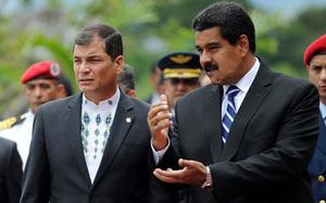 Rafael Correa and Nicolas Maduro