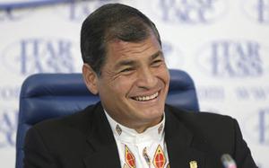 Rafael Correa in Paris