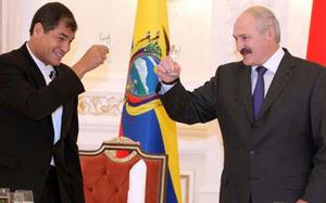 Rafael Correa and Alexandr Lukashenko