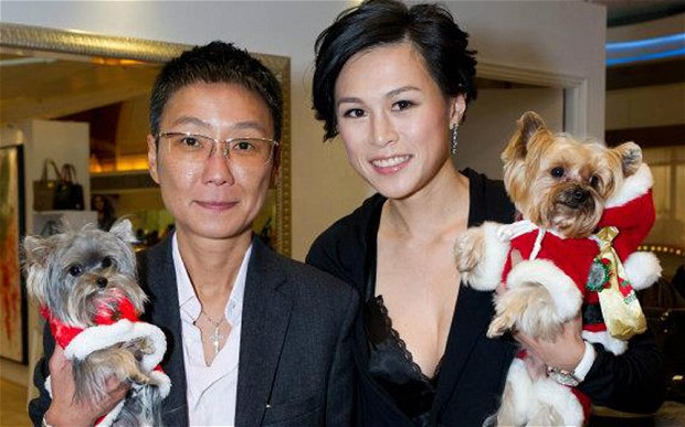 Gigi Chao (right) and her girlfriend for 9 years, Sean Eav.