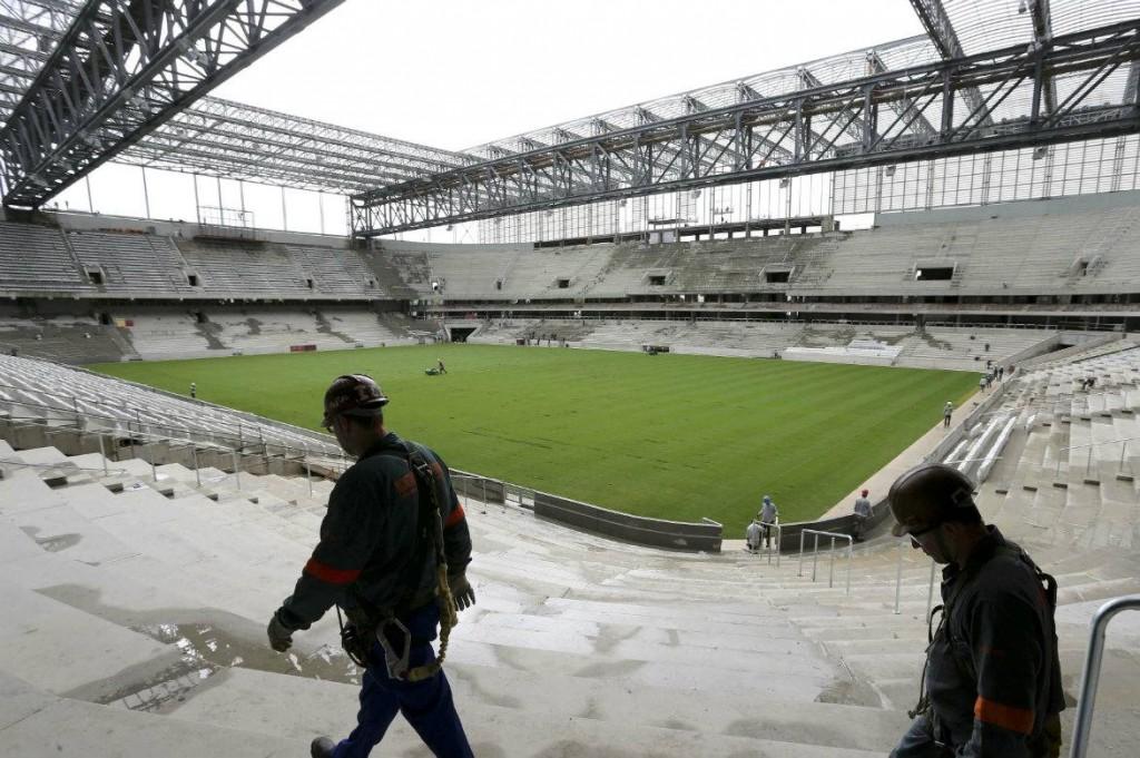 Arena da Baixada stadium. Still at construction.