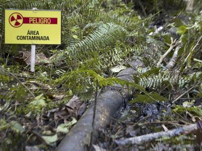 Environmental damage in Ecuadorian Amazon.