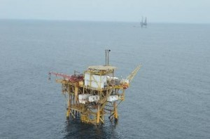 Platforms for the exploitation of natural gas are installed open sea