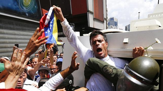 Leopoldo Lopez when detained on last February 18.