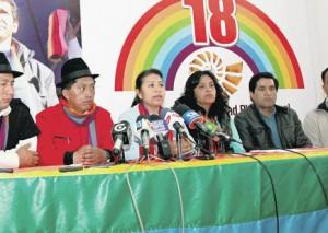 Pachakutik protects Jimenez