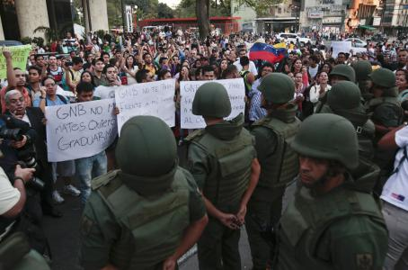 Protests in Venezuela are being stopped with heavy military force.