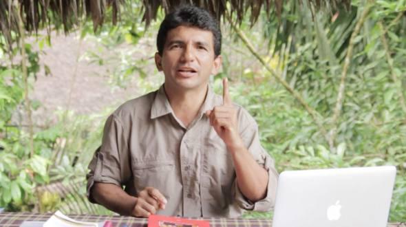 Clever Jimenez from the Sarayaku village.