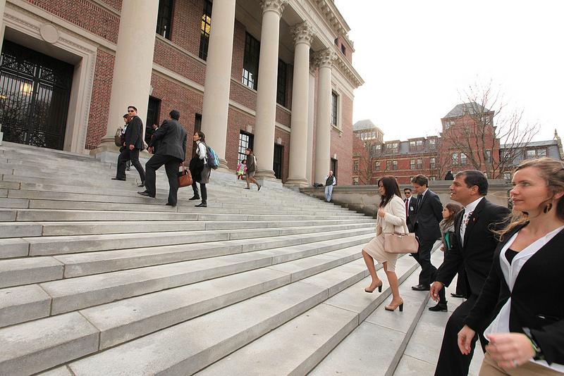 Correa toured Harvard University.