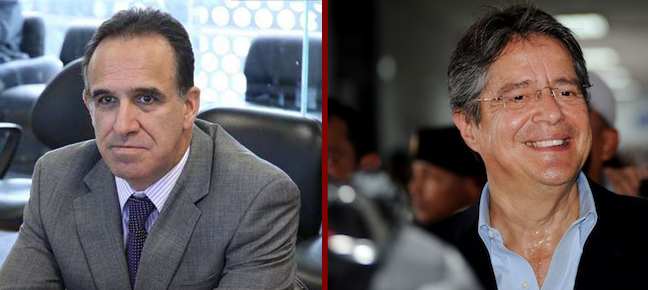 Ramiro Gonzalez (left) and Guillermo Lasso.