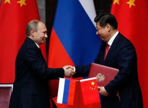 Presidents Vladimir Putin and Xi Jinping signed the bilateral agreement Photo: EFE