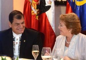 Correa-Bachelet-Chile