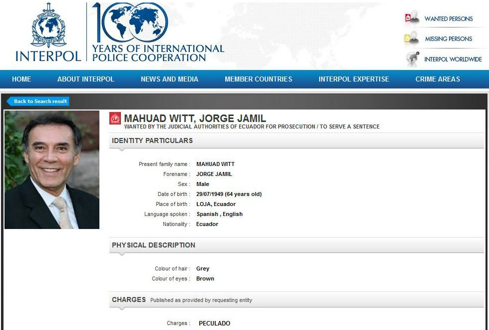 Jamil-Mahuad-Interpol-orden-de-captura