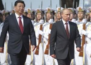 Xi Jinping and Vladimir Putin en Shanghai. Reuters