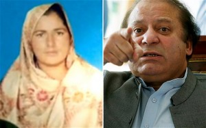 Farzana Parveen was murdered with the authorization of her father (right).