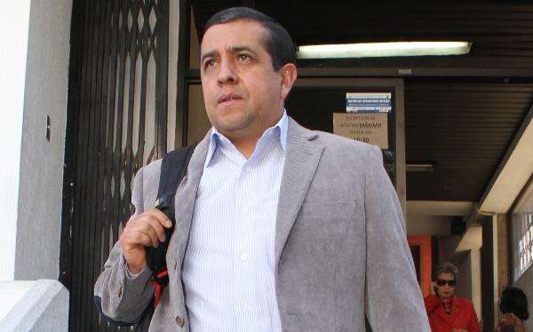 Fidel Araujo after leaving the Criminal Division where his judgement was ratified.