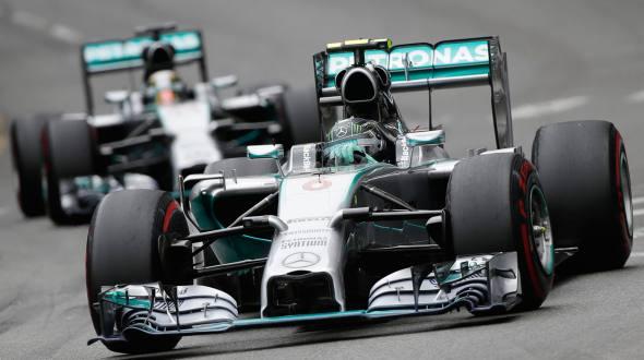 Nico Rosberg followed by Lewis hamilton.