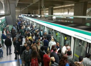 Sao Paulo's Metro Service today was normalized. Photo: www.publinews.gt