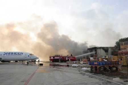 Jinnah International Airport after the Taliban attack.