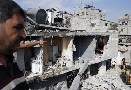 Around 80 homes and buildings have been destroyed in the last 72 hours of intense attacks.