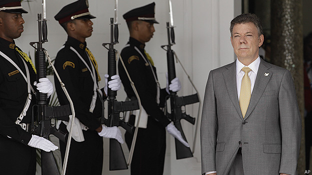 """You are playing with fire and this process can end,"" said president Santos."