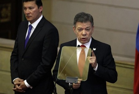 Santos during his speech at the installation of the new Congress.