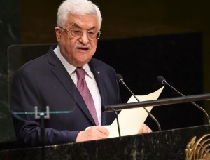 The president of the Palestinian Authority Mahmoud Abbas.