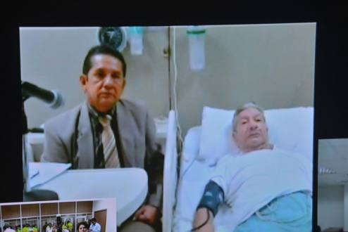 Glas Viejo gave attended the trial virtually from his bed at a hospital.