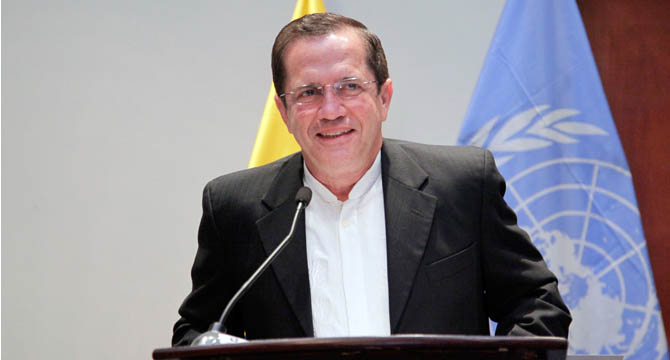 Ricardo Patino during his speech at the 69th General Assembly of the United Nations (UN).