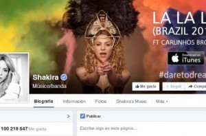 shakira-facebook