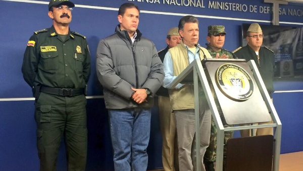 President Juan Manuel Santos declared from the Ministry of Defense of Colombia. (Photo: Defense Ministry)