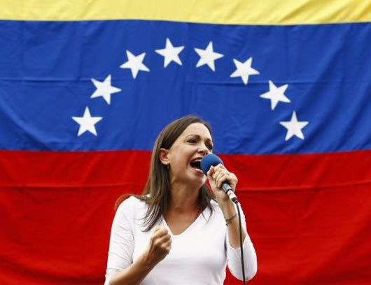 The former Venezuelan deputy Maria Corina Machado. Reuters