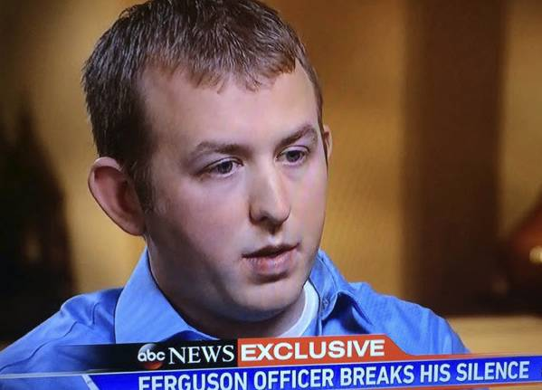 Police Darren Wilson. (ABC Video Capture screen)