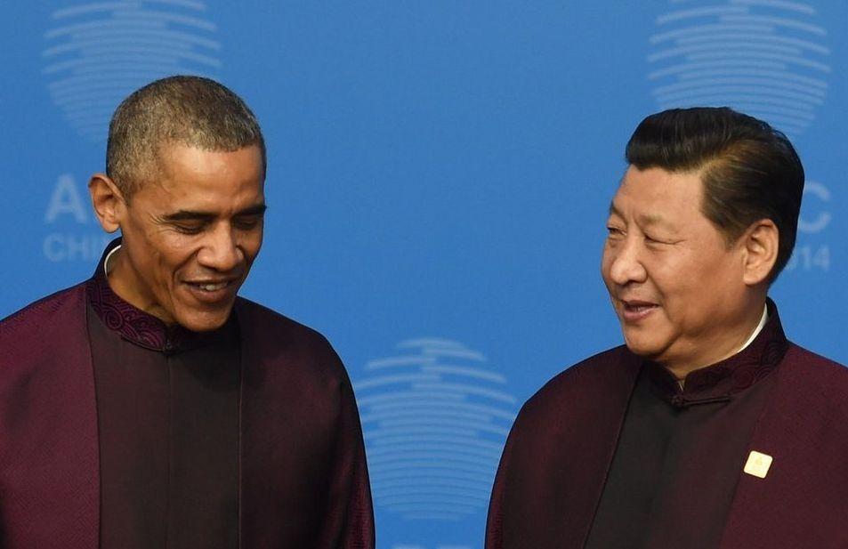 Obama, next to Chinese President Xi Jinping. Greg Baker   Ap