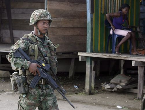Colombian soldier during military operations in Choco. EFE