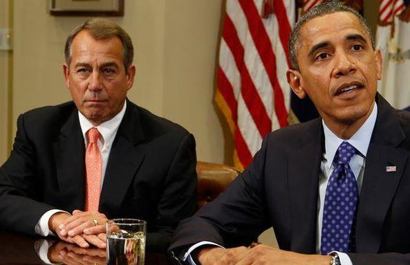 El presidente de la Cámara de Representantes de Estados Unidos, el republicano John Boehner. (lef) // Reuters