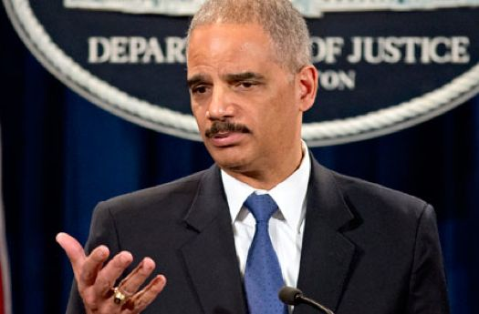 Outgoing Justice secretary Eric Holder.