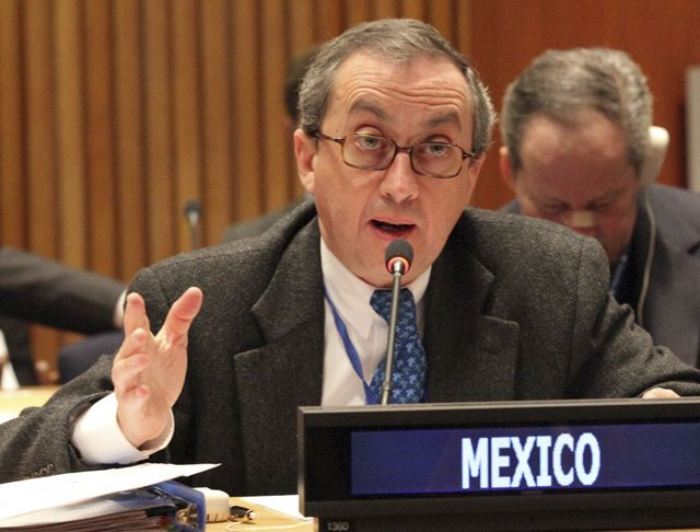 Undersecretary for Multilateral Affairs and Human Rights of Mexico, Juan Manuel Gómez Robledo.