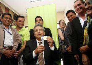 CAMPAÑA DE CARNETIZACIÓN LANZADA POR ALIANZA PAIS.