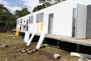 The Ministry of Education began the construction of 271 mobile classrooms
