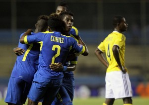 Ecuadorian U-17 category qualified for the World Cup in Chileafter beating Colombia 2-1