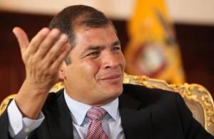 Rafael Correa, President of Ecuador, denounced the US intervention in Latin American governments.