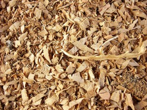 The wasted sawdust becomes an alternative energy source.
