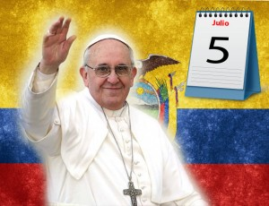 Pope Francis will visit Ecuador from 5 to 8 July.